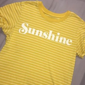 Tops - Yellow stripped tee
